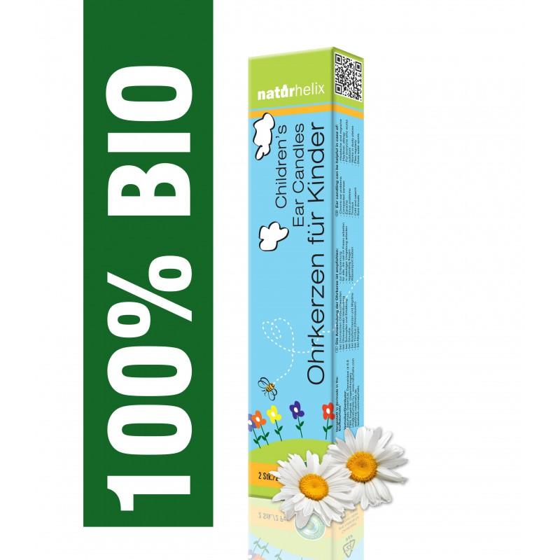 Naturhelix BIO Ohrkerzen für Kinder Kamille 2er Pack