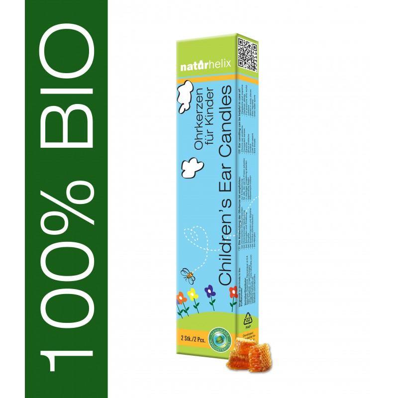 Naturhelix BIO Ohrkerzen für Kinder Natur 2er Pack